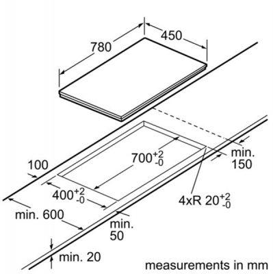 thiết kê Bếp từ Bosch PPI82560MS