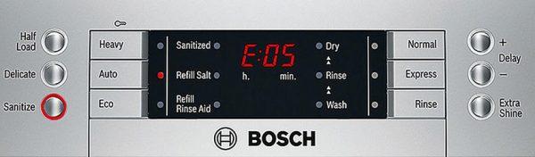 lỗi thường gặp máy rửa bát Bosch