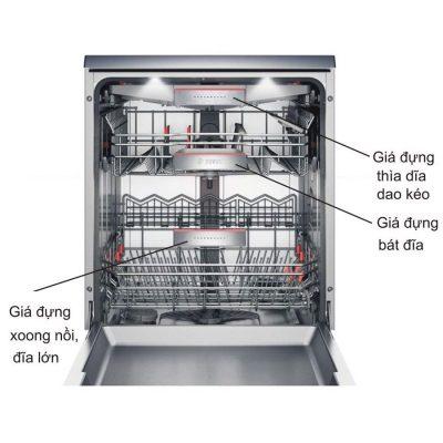 Giá đựng máy rửa bát Bosch SMS46MI05E