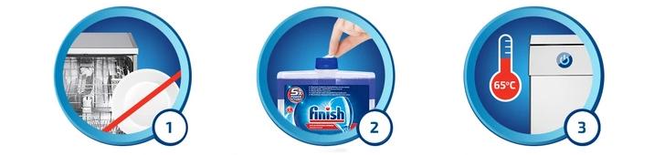 sử dụng dung dich vệ sinh máy rửa bat Finish