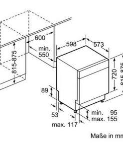 thiết kế Máy Rửa Bát Bosch SMU68TS02E